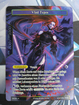 Force of Will Karte Vlad Tepes WL002 JR Promo Full Art deutsch