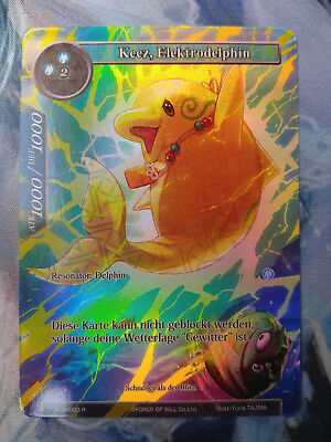 Force of Will Karte Keez, Elektrodelphin TSW-063 Full Art Foil deutsch