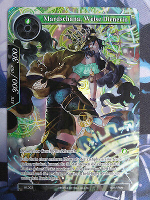 Force of Will Karte Mardschana, Weise Dienerin WL003 Promo Full Art deutsch