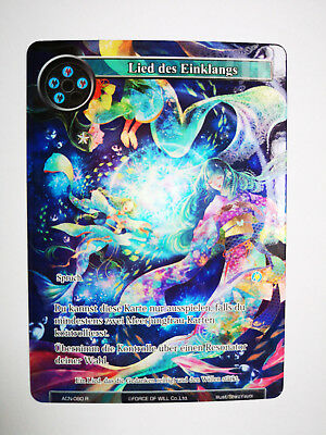Force of Will Karte Lied des Einklangs ACN-080 Rare Full Art deutsch