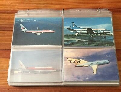 Lot = 171 Assorted Airline Post Cards