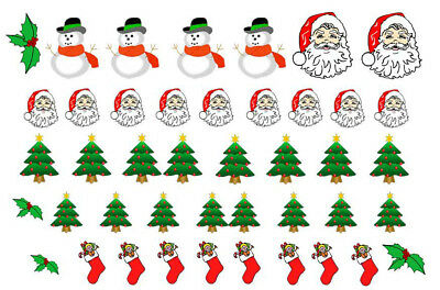 Nail Art Decal Stickers-christmas Santa Health & Beauty Easy To Use On Any Colour Nail.125