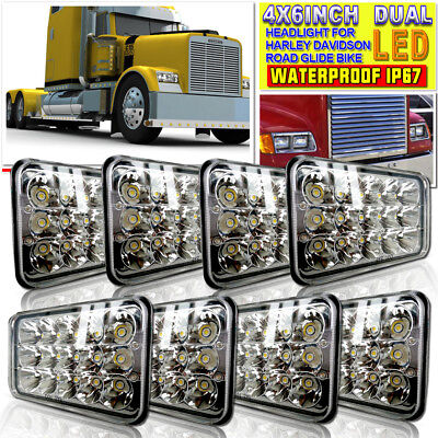 4x6 inch LED Headlights CREE HID Replace H4656/4651 High/Low Beam 45W-Qty8