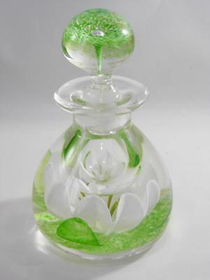 Caithness Scotland Chantilly Glass Perfume Bottle Limited Edition