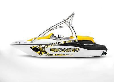 GRAPHIC REPLACEMENT KIT DECAL SPORTSTER SEA DOO SPEEDSTER 150 Yellow graffiti