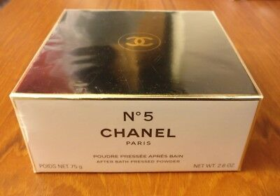 Authentic Chanel No 5 After Bath Pressed Body Powder 75g