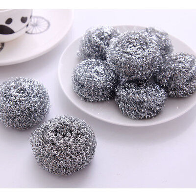 20x Stainless Steel Silver Metal Scourers KITCHEN Pots Pans Scrubber Cleaning