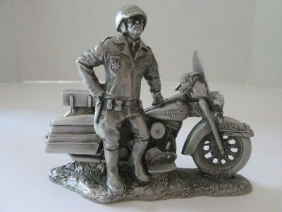 """Harley-Davidson Pewter Sculpture """"Keeping The Peace"""""""