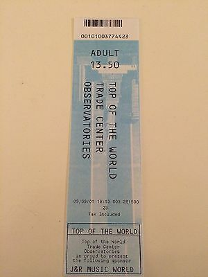 World Trade Center Ticket WTC 09.09.2001 Kopie