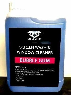 1L Fresh Bubblegum ScreenWash Concentrated Car Windscreen Washer Fluid Non Smear