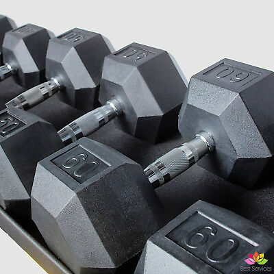 CAP BARBELL RUBBER HEX DUMBBELLS WEIGHTS SET Hand Training Squat Lifting Workout
