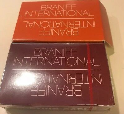 Vintage Braniff International Airlines BI Playing Cards 1 sealed 2 decks