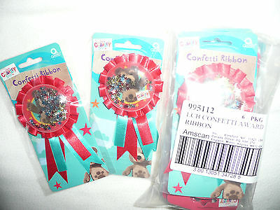 Wholesale 18 New Party Bag Favour/fillers.charley Bear Confetti Badges.99P Start