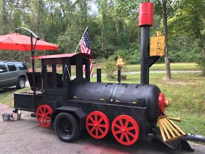 custom Train bbq smoker pig cooker barbecue grill
