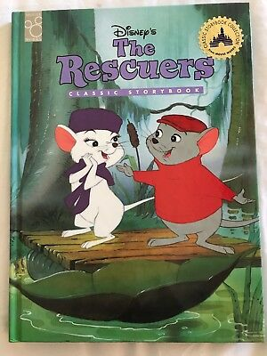 RARE Disney's the Rescuers: Classic Storybook Mouse Works Fully Illustrated Book