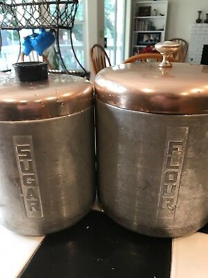 antique tin canisters