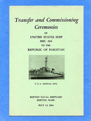 USS MSC 294 Transfer And Commissioning Navy Ceremony Program