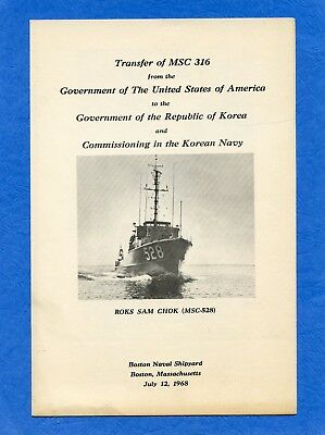 USS MSC 316 Transfer And Commissioning Navy Ceremony Program