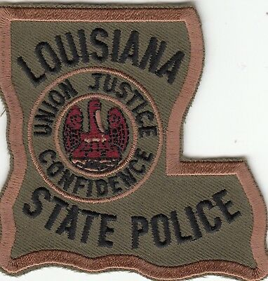 Louisiana State Police Subdued Swat State Shape Patch La