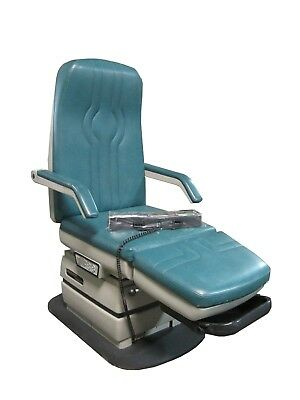 Midmark 417 Podiatry Chair Exam Table Green Top Cover+Foot Pedal Switch Control