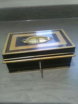 Vintage Cash Box Collectable with Trays &  original key