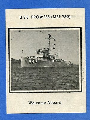 USS Prowess MSF 280 Welcome Aboard Navy Ceremony Program