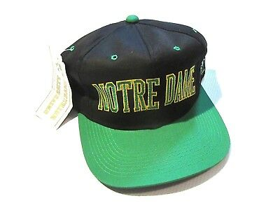 NWT Vintage Notre Dame Fighting Irish Arch Logo Spellout Snapback Hat Cap NCAA