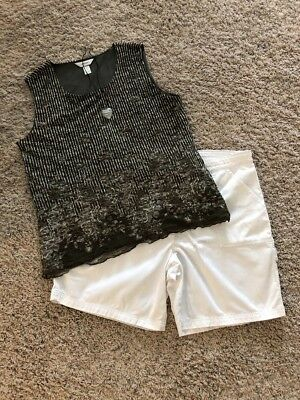 Women's 3 Pc Outfit: X Top; 16 Shorts. NWOT Necklace. EUC!