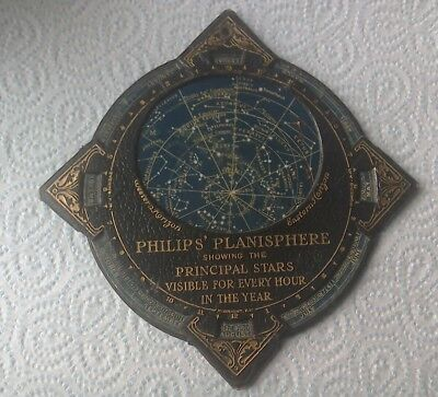 superb, antique Philips Planisphere celestial map.