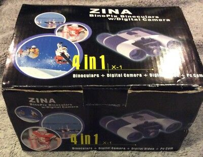 ZINA BinoPix Binoculars w/Digital Camera/Digital Video & PC Cam 4 In 1