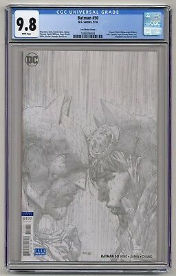 Batman #50 ~ 1:100 Jim Lee Pencil Variant ~ CGC 9.8