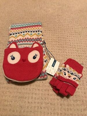 Girls Scarf and Gloves From John Lewis
