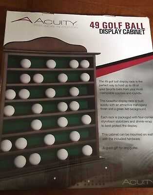 15 Golf Ball Display Case Rack Holder Hole In One Real Glass Door