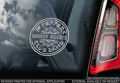 The Beatles - Car Window Sticker -Sgt Pepper's Lonely Hearts Club Band Drums V03