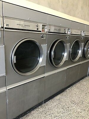 Speed Queen 30lb, commercial, coin operated gas dryers.