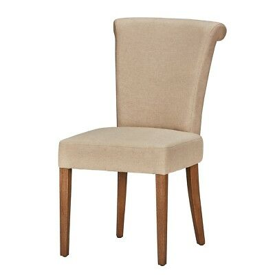 "39"" Tall Dining Chair Solid Wood Legs Distressed Finish Brass Ring Along Back"