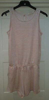 Girls H&M Pink and Gold Stretch Playsuit 13yrs