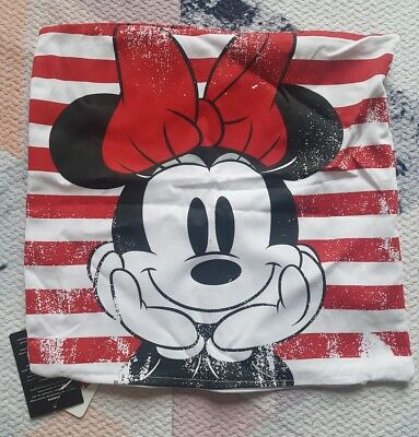 Minnie Mickey Mouse Cushion Cover Disney Disneyana Collectable