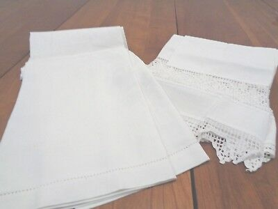 Pair of Antique 100% Linen Bath Towels
