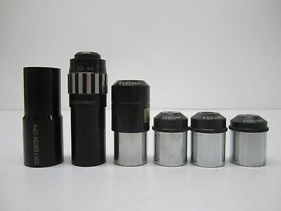 Lot of 6 Assorted Microscope Glass Eyepiece Magnifying Elements Scientific As Is