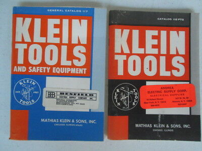 """Lot Of 2  """"Klein Tools & Safety Equpment 70s Catalogs""""  Very Nice"""
