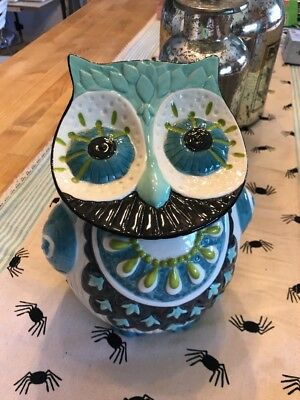 Anthropologie Owl Cookie Jar EUC