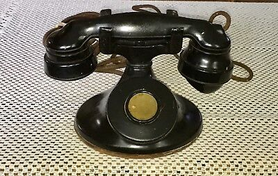 Vintage 1930s WESTERN ELECTRIC Desk Telephone E1 Handset D1 Base Non-Rotary