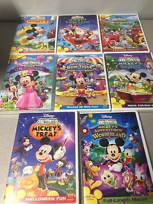 Mickey Mouse Clubhouse Dvd Lot Of 8 Bow Tique Road Rally Great Hunt