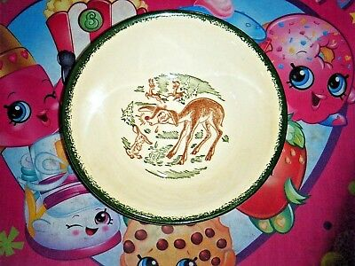 "Rudolph the Red Nose Reindeer Bowl Vintage Christmas 6 1/2"" wide"