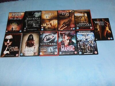 Horror DVD Job Lot Collection 11 Films Halloween Scary movies Stephen King