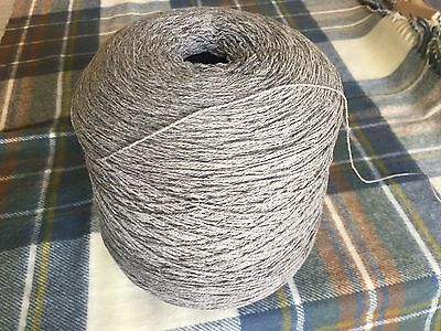 10%Cashmere90%Lambswool Yarn SilverGrey900g Cone .3ply Knit.Uk Spun.Sale Save£2.