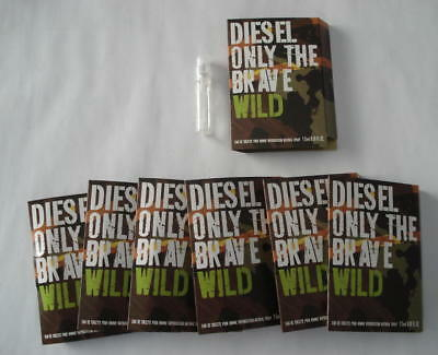 Lot 7 Echantillons Diesel Only The Brave Wild Eau De Toilette 1.5 Ml Vapo Spray