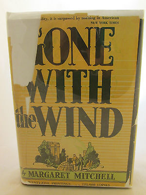 First Edition 5th Printing July Gone With the Wind 1936 Margaret Mitchell DJ