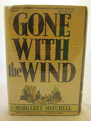 1936 First Edition Early Printing DJ Gone With the Wind Margaret Mitchell